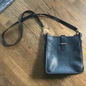 GiGi Black leather Side Bag-Mint